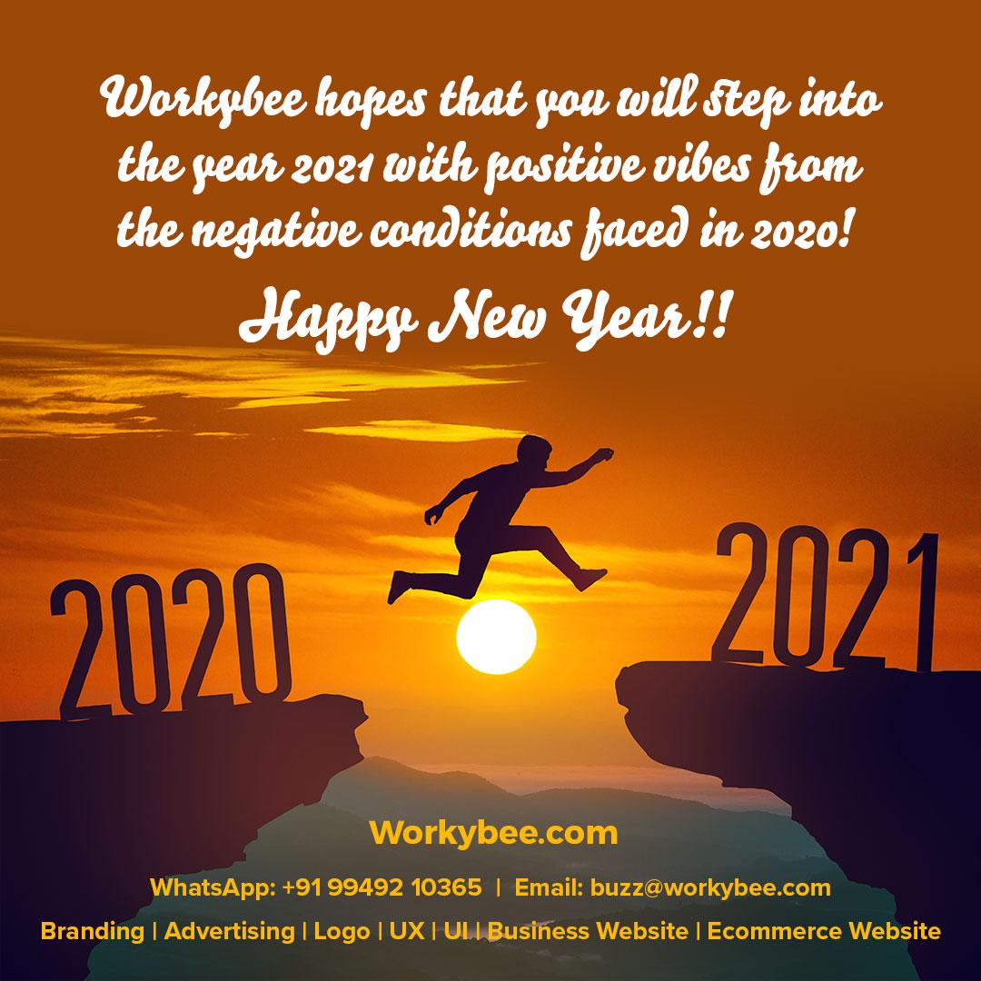 Happy New Year 2021 - Workybee